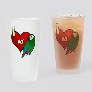 iheartmy_military Drinking Glass