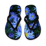 Blue Spider Flowers Flip Flops
