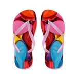 Colorful Collection of Balloons Flip Flops