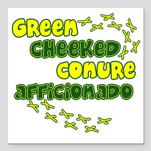 "afficionado_greencheek Square Car Magnet 3"" x 3"""