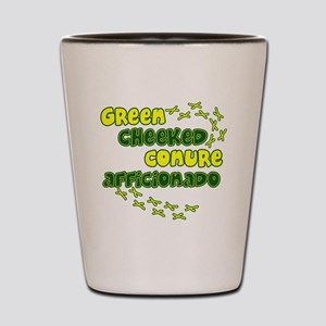 afficionado_greencheek Shot Glass