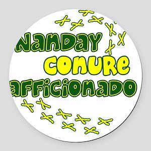 afficionado_nanday Round Car Magnet
