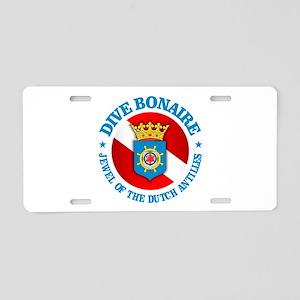 Dive Bonaire (rd) Aluminum License Plate
