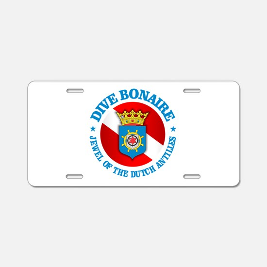 Dive Bonaire (rd) Aluminum License Plate