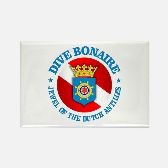 Dive Bonaire (rd) Rectangle Magnet