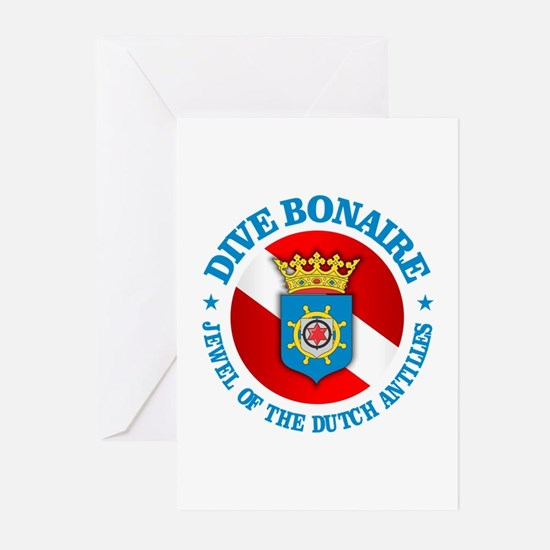 Dive Bonaire (rd) Greeting Cards (Pk of 10)