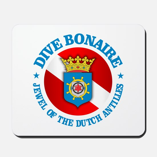 Dive Bonaire (rd) Mousepad