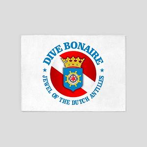 Dive Bonaire (rd) 5'x7'Area Rug