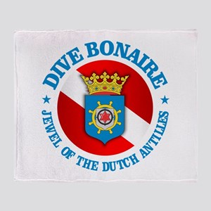 Dive Bonaire (rd) Throw Blanket