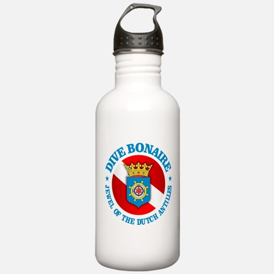 Dive Bonaire (rd) Water Bottle