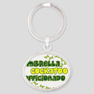 afficionado_umbrella_hat Oval Keychain