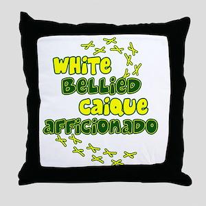 afficionado_whitebelly Throw Pillow