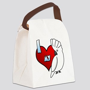 iheartmy_umbrella Canvas Lunch Bag