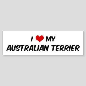 I Love: Australian Terrier Bumper Sticker