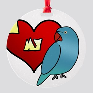 iheartmy_IRNblue_hen Round Ornament