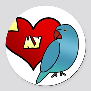 iheartmy_IRNblue_hen Round Car Magnet