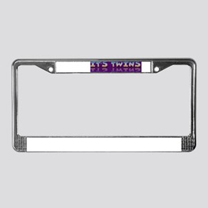 It's twins announcement License Plate Frame