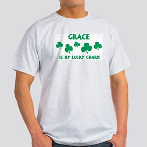 Grace is my lucky charm Ash Grey T-Shirt