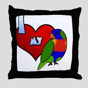 iheartmy_rainbow Throw Pillow