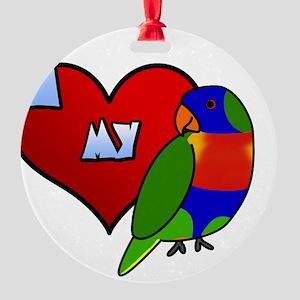iheartmy_rainbow Round Ornament