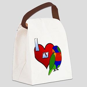 iheartmy_rainbow Canvas Lunch Bag