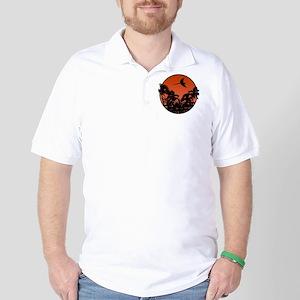 savethemacawsorange_ornament Golf Shirt