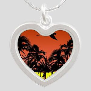 savethemacawsorange_tile Silver Heart Necklace