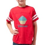 Daddys Little Cupcake Youth Football Shirt