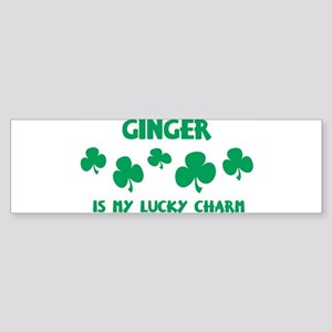 Ginger is my lucky charm Bumper Sticker