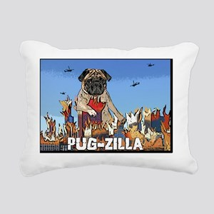 pugzilla Rectangular Canvas Pillow