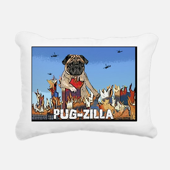 pugzilla Rectangular Canvas Pillow