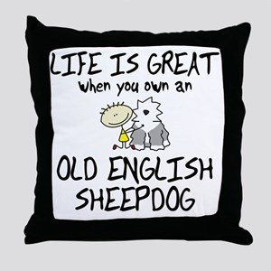 lifeisgreat_oes Throw Pillow