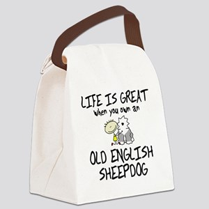 lifeisgreat_oes Canvas Lunch Bag