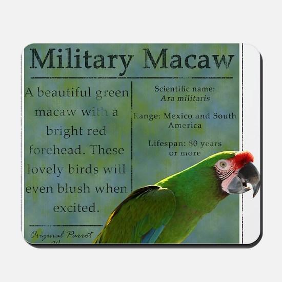 military_parrotwear Mousepad