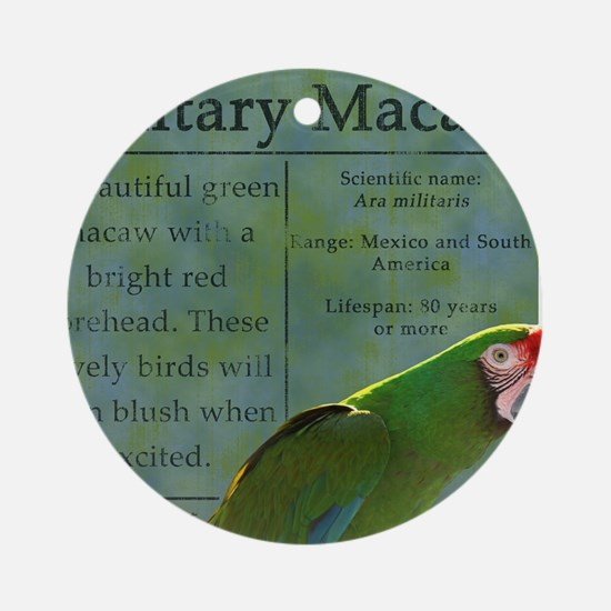 military_parrotwear Round Ornament