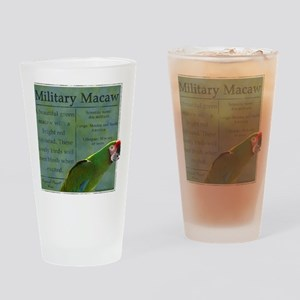 military_parrotwear Drinking Glass