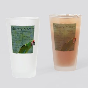 military_parrotwear_blk Drinking Glass