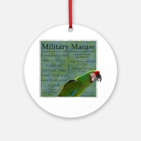 military_parrotwear_blk Round Ornament