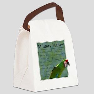 military_parrotwear_blk Canvas Lunch Bag