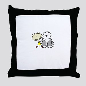 lifeisgreat_oes_blk Throw Pillow