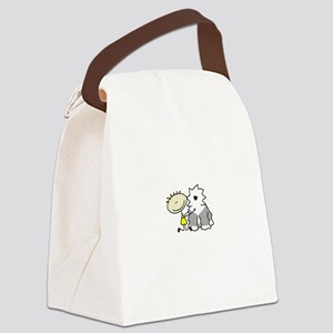 lifeisgreat_oes_blk Canvas Lunch Bag