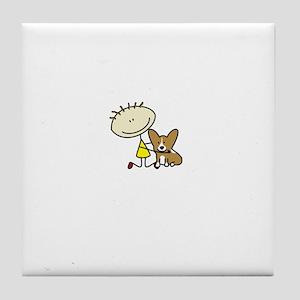 lifeisgreat_pembroke_blk Tile Coaster