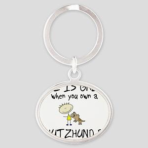 lifeisgreat_schutzhund Oval Keychain