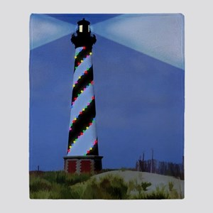 Cape Hatteras Light House with Chris Throw Blanket