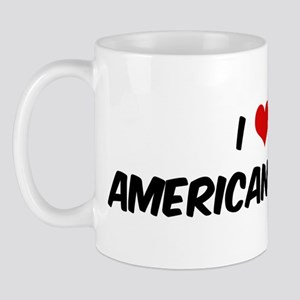 I Love: American Brittany Mug