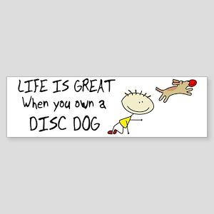 lifeisgreat_discdog_bowl Sticker (Bumper)