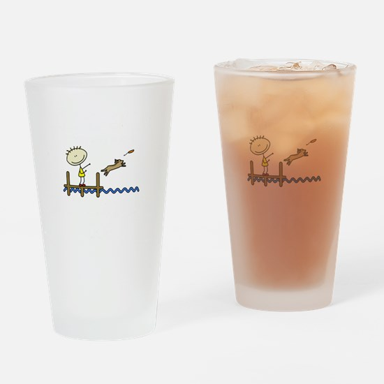 lifeisgreat_dockjumping_blk Drinking Glass