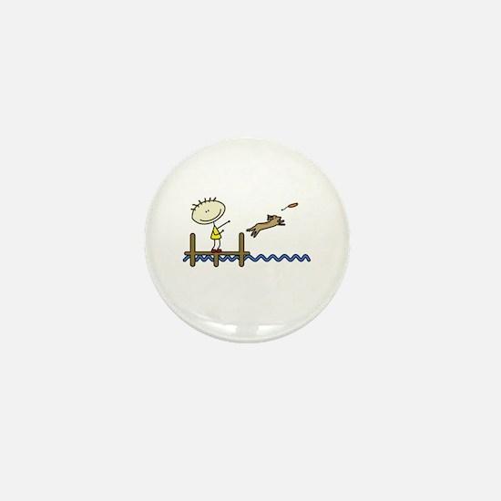 lifeisgreat_dockjumping_blk Mini Button