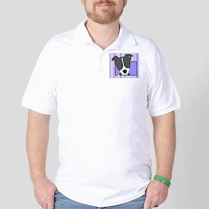 bordercollie_drawing_mousepad Golf Shirt
