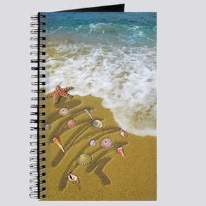 Christmas Seashells and Tree Washed Up on  Journal